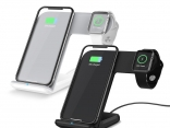 Беспроводной зарядное устройство для iPhone XS Max XR X 8 Plus, Apple watch 1 2 3, Samsung S9 S8 (2 в 1)
