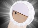 Универсальное селфи-кольцо, LED вспышка светодиодная для iPhone 8/7/6 Plus, Samsung