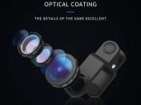 Широкоугольный объектив камеры для iPhone 7/6S Plus, Xiaomi, Huawei, Samsung. Универсальный 3 в 1