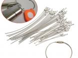 Кольцо брелок для ключей 10 шт 1,5/2 мм из нержавеющей стали