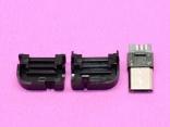 Micro USB разъем под прямым углом и пластиковая крышка