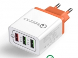 Универсальная 18Вт USB зарядка 5В/3A для Iphone 7/8, Samsug s8/s9, Huawei