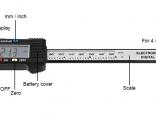 Штангенциркуль-6 дюймов/150 мм ЖК-дисплей цифровой,4 способа измерения:внутренний диаметр,внешний диаметр,глубина,шаг