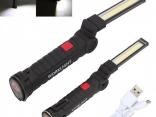 Портативный светодиодный фонарик USB магнитное основание 5 режимов