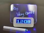 Цифровой светодиодный будильник флуоресцентный с доской для сообщений USB 4 порта