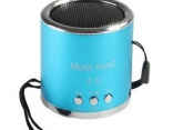 Металлический мини-динамик FM радио, сабвуфер для телефона