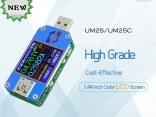 USB тестер UM34/UM34C, UM24/UM24C, UM25/UM25C DC