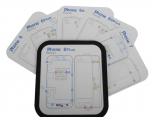 Магнитный винт коврик 9шт. для iPhone 6, 6s, 6 Plus, 6s Plus, 7, 7 Plus, 8, 8 Plus, X
