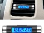 Автомобильные цифровые часы с клипсой на вентиляционное отверстие