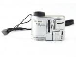 60X мини микроскоп со светодиодной подсветкой и с ультрафиолетовым детектором банкнот