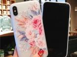 Чехол для iPhone 7/6/5 мягкий. Расцветка - цветы