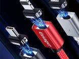 Магнитный USB кабель для iPhone, Тип C,Android.
