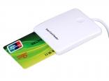 Портативный USB считыватель смарт-карт IC кредитных карт