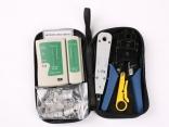 Набор инструмента для монтажа СКС (обжим, забивка, зачистка, тестер, коннекторы)