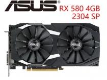 Видеокарта Asus Radeon RX 580, DUAL-RX580-O4G, 4ГБ, GDDR5, 256 бит